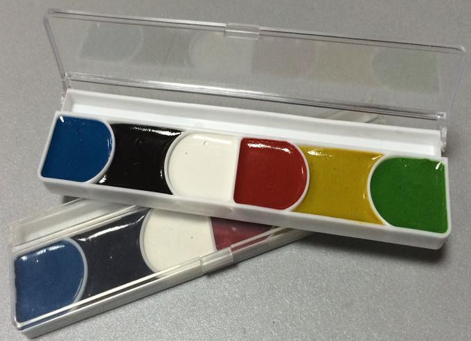 Краска акварельная 6 цветов в пластиковой коробке (298)