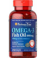 Puritan's Pride Omega-3 Fish Oil 1000 mg 250 softgels