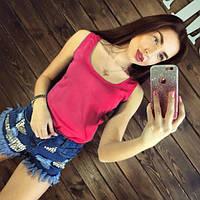 Блуза женская без рукавов / Майка шифоновая малиновая S, L, XL, фото 1