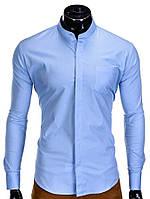 Мужская Рубашка R307 Голубой, XXL