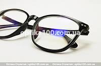 Очки для компьютера со стеклянными линзами. Черная оправа