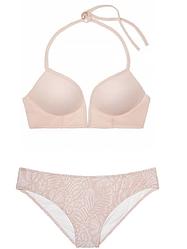 Victoria's Secret Купальник PINK Midline Plunge Halter & Lace Mini Bikini S