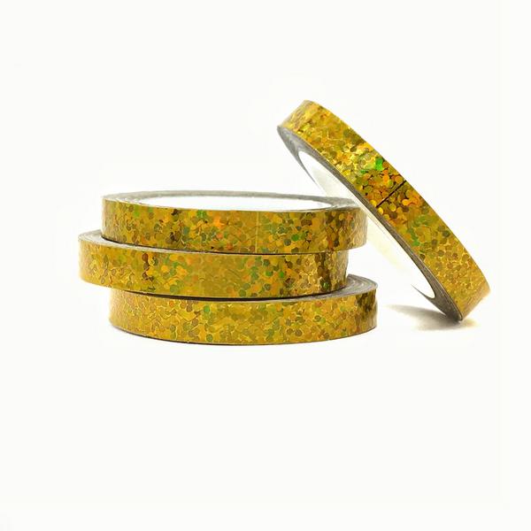 Лента-трафарет для ногтей в рулоне STZ 5 мм золото