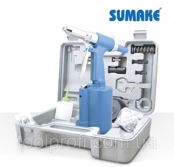 Заклепочник пневмогидравлический с комплектом заклепок 2.4 - 4.8 мм (Sumake ST-6615K)