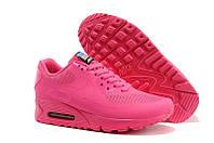 Женские кроссовки Nike Air Max 90 Hyperfuse USA малиновые