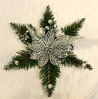 Звезда рождественская серебро 0500S