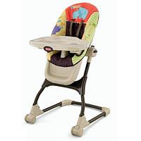 Fisher-Price Детский высокий стульчик для кормления Любимый зоопарк EZ Clean High Chair Luv U Zoo V9144, фото 1
