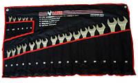 Набор ключей рожково-накидных на полотне 22 пр. (6-32 мм)