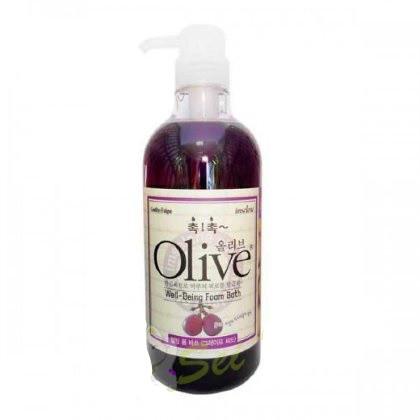 Гель для душа- Увлажняющая пена для ванны Olive 2 в 1 с экстрактом оливы и виноградных косточек 750 мл (74732)