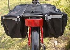 Велосипедная сумка на багажник вело штаны, фото 3