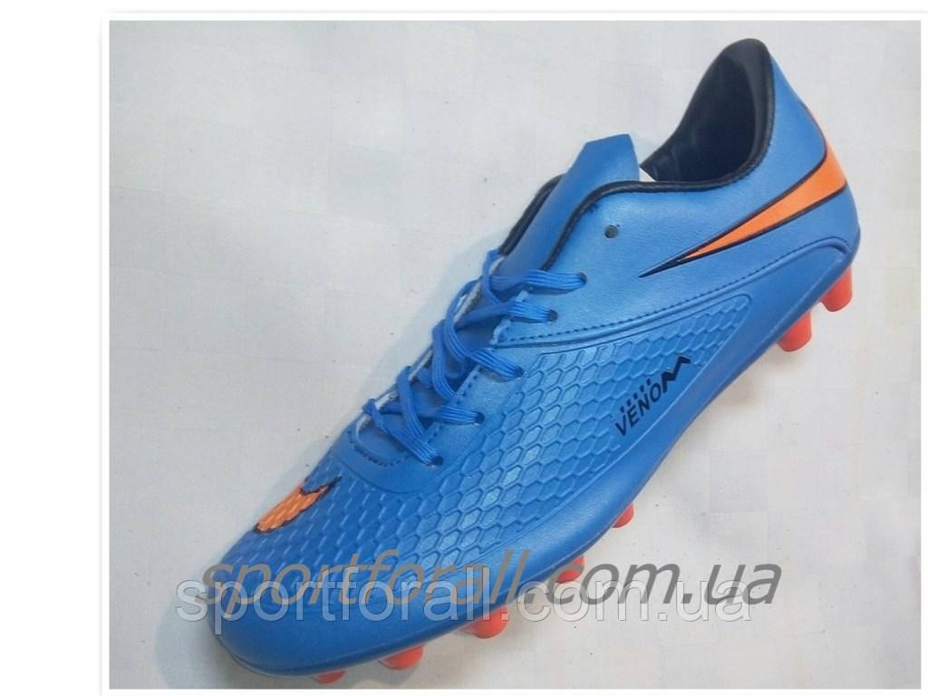7fd48442 Бутсы футбольные nike venom синие р 39-41 NV-695, цена 695 грн ...