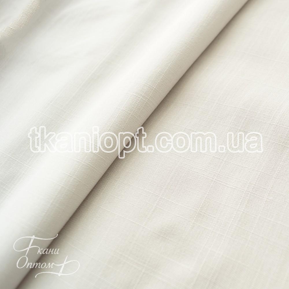 Ткань Лен натуральный фактурный тонкий (серо-белый)