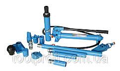 Набор гидроцилиндров и насадок для кузовных работ с насосом 10 т (металлический кейс)