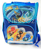 Школьный каркасный рюкзак Smile для мальчиков Ninjago синий
