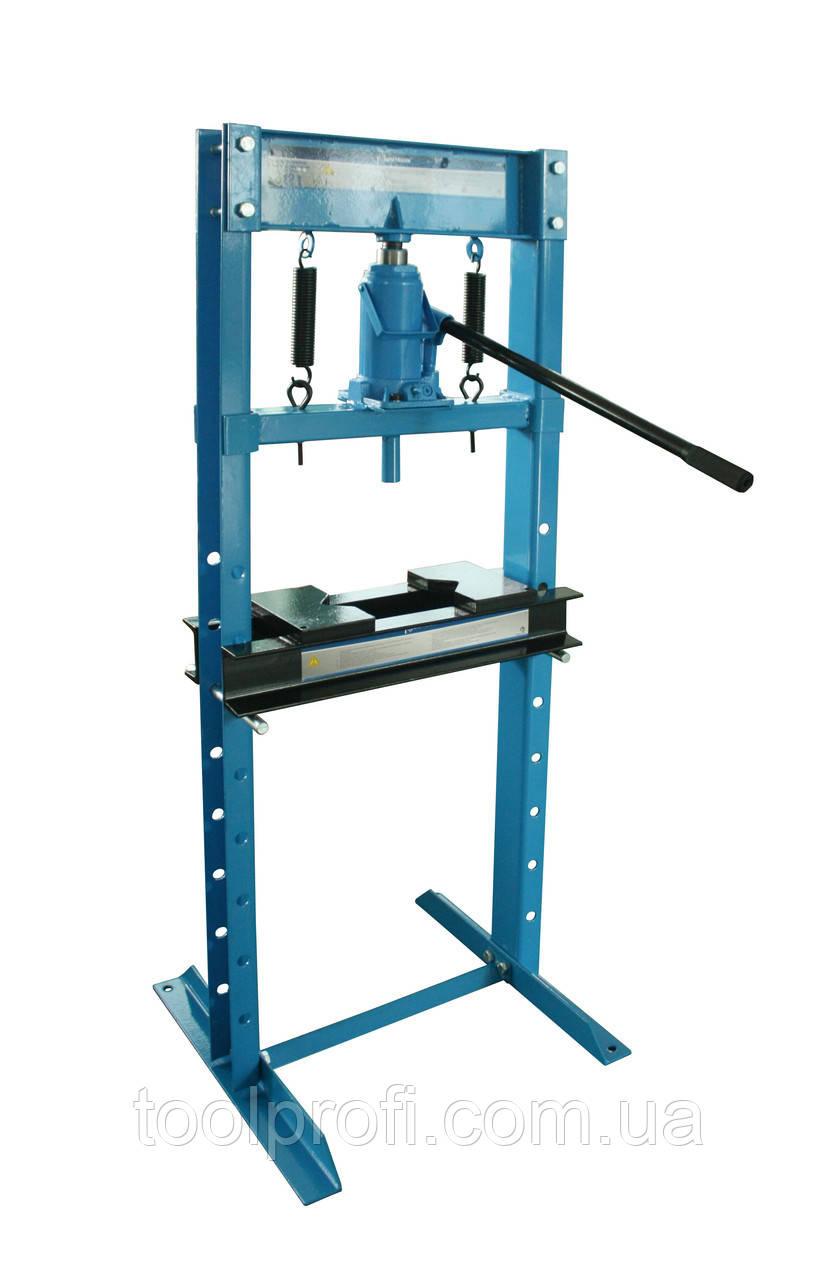 Пресс гидравлический 12 т высокий, с домкратом (ход 175 мм)