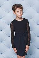 Кофта для девочки с рукавом сетка черная, фото 1