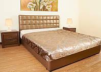 Кровать кожаная - Золото (Золотистая) кровать из кожи