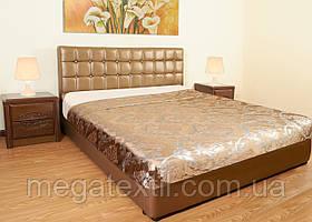 Кровать кожаная Золото (Золотистая) кровать из кожи