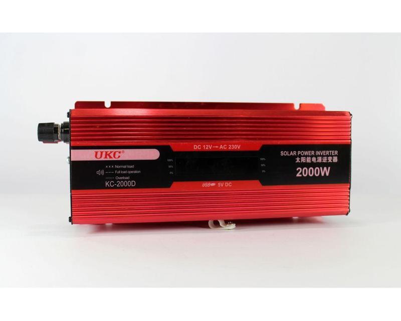 Преобразователь автомобильный AC/DC KC-2000D 2000W + lcd, автоинвертор
