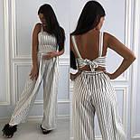 Женский комбинезон со штанами-юбкой в полоску, фото 2