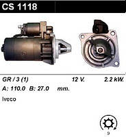Стартер 2.2 кВт на Iveco Daily 30-59 78-98 CS1118, фото 1