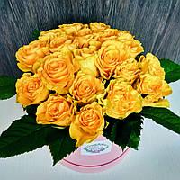 Коробка с желтыми розами, фото 1