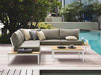 Комплект угловой диван   NEAPOLITANO  250х250 см  алюминий