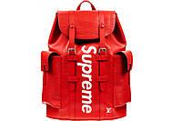 Рюкзак ранец портфель мужской женский Louis Vuitton Supreme