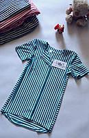 Сукня для дівчинки літня віскоза смугаста асиметрія Платье для девочки полосатое на кнопках перед