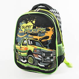Школьный рюкзак для мальчика с ортопедической спинкой - черный - 10-665
