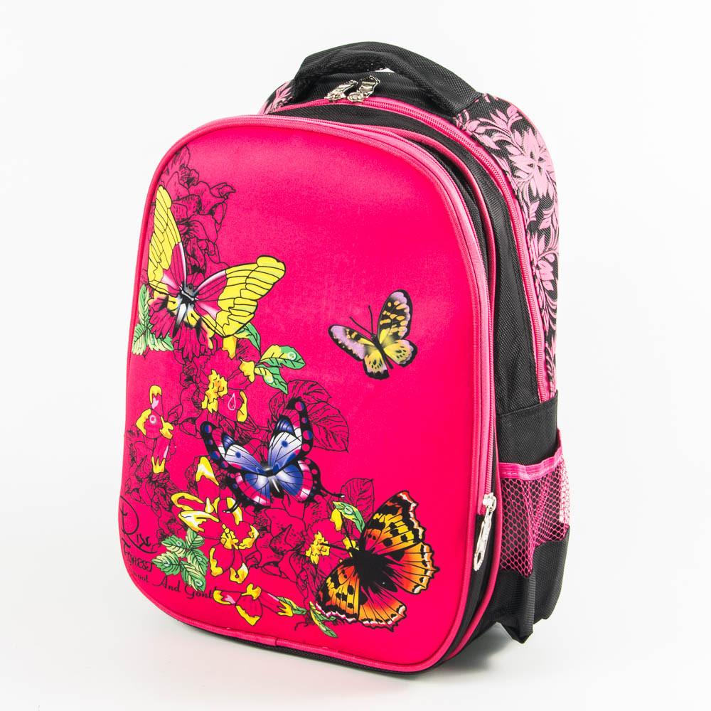 062097a4cf47 Школьный рюкзак для девочки с ортопедической спинкой - розовый - 10-665 -  Интернет магазин
