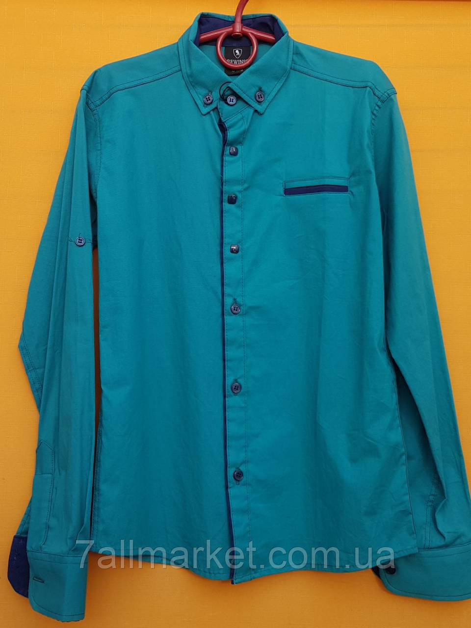 856e58a9ad5 Рубашка с длинным рукавом на мальчика 12-16 лет (2 цвета) Серии ...