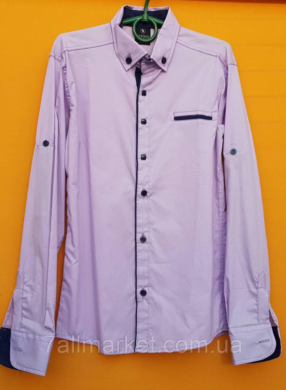 a052f684882 Рубашка школьная с длинным рукавом на мальчика 6-11 лет (2 цвета) Серии