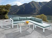 Комплект угловой диван   MELISA  147X154 см  алюминий