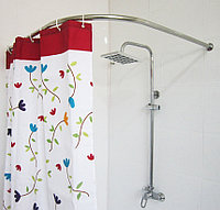 Карниз в ванную, для поддона 80*80 г-образный Комфорт Ф25