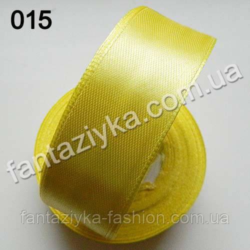 Лента атласная для канзаши 2,5 см, лимонная 015