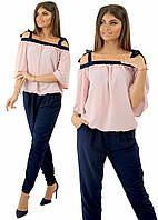 Костюм женский блуза + брюки  в расцветках 25173, фото 1