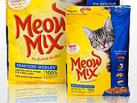Meow Mix SeaFood корм для котов,коктель из море продуктов 7,08кг