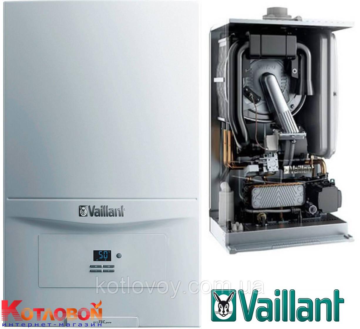 Конденсационный двухконтурный газовый котел Vaillant ecoTEC pure