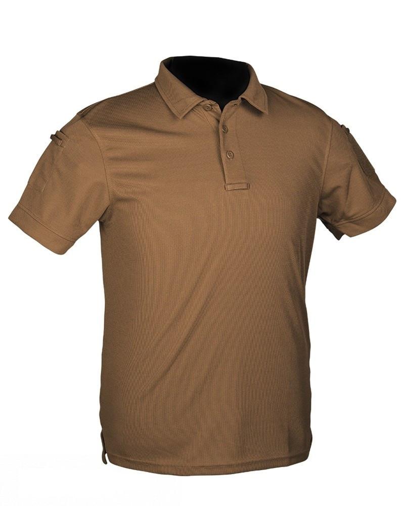Тактическая футболка поло Mil-tec койот для ЗСУ