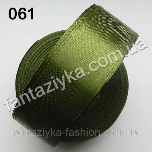 Лента атласная для канзаши 2,5 см, золотистый хаки 061