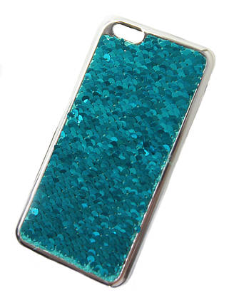 Силиконовый чехол для iPhone 6 Plus / 6S Plus Чешуйки зеленый, фото 2