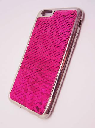 Силиконовый чехол для iPhone 6 / 6S Чешуйки Розовый, фото 2