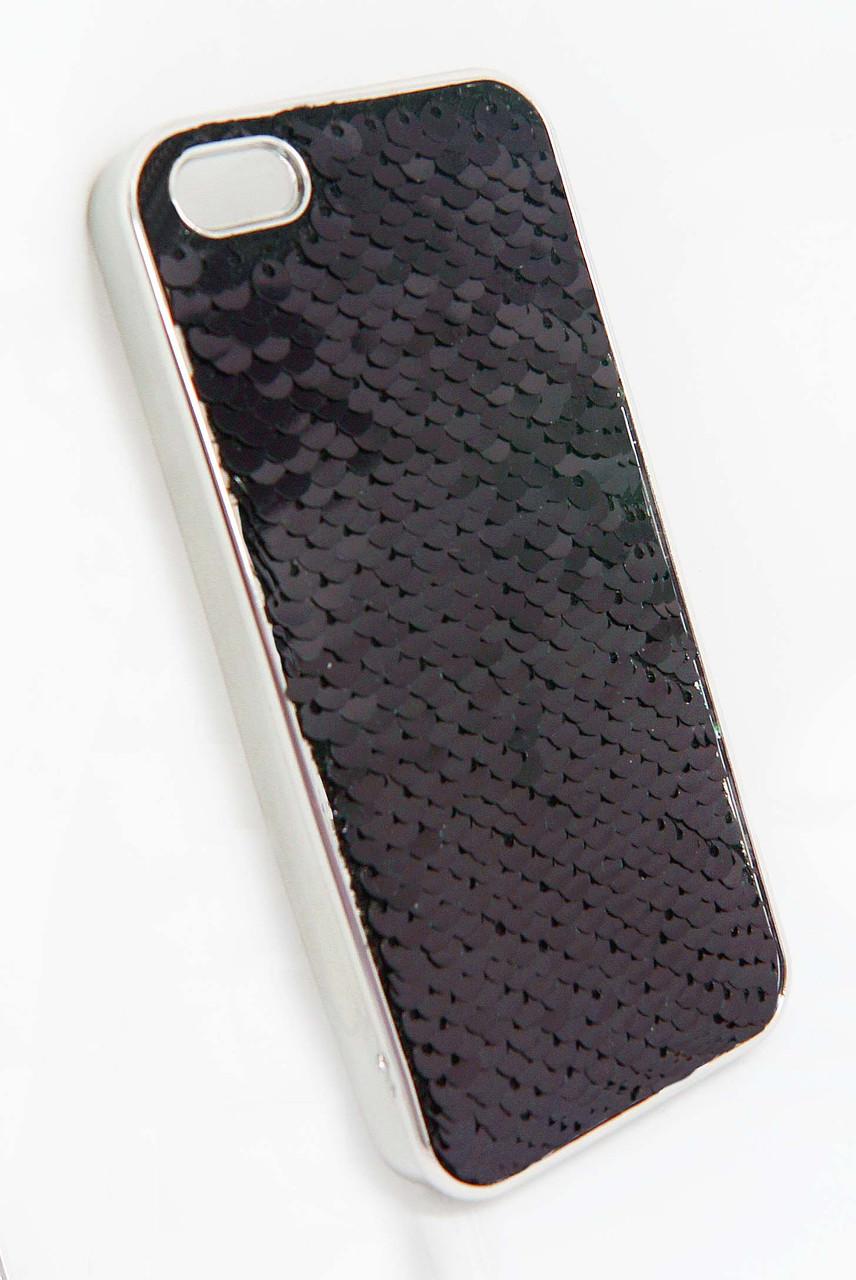 Силикон  iPhone 5G  Чешуйки New  черный