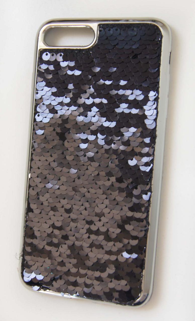 Силиконовый чехол для iPhone 7 Plus / 8 Plus Чешуйки Black
