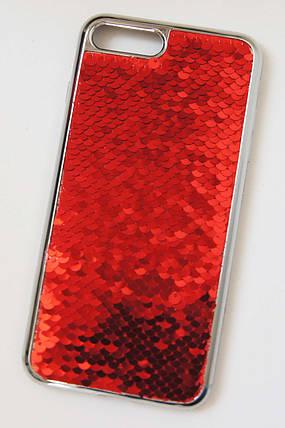 Силиконовый чехол для iPhone 7 Plus / 8 Plus Чешуйки Красный, фото 2