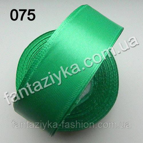 Лента атласная для канзаши 2,5 см, светло-зеленая 075
