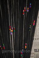 Шторы нити капитошка (Черный)