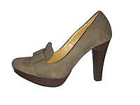 Кожаные польские женские очень удобные классические туфли на каблуке 36 Kati 39
