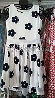 Детское летнее платье. Белое крупные цветы Billy bear Венгрия 3-6лет